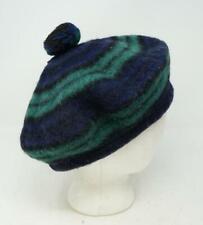 Vintage L.L. Bean Beanie Muted Wool Beret Cap Hat Blue Green