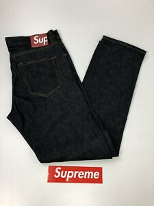 SUPREME X Rigid Slim Jeans Indigo  from August 2017 Collection SIZE W36 L33/34