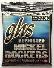 GHS Burnished Nickel Rockers Electric Guitar Strings gauges 10-46