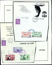 Isle of Jethou  Guernsey 1961 and 1962 Covers  (2)    (D2269)
