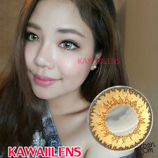 Kontaktlinsen Contact Lenses GEO Color Big Eye Cosplay Lens Jelly Brown (Gold)