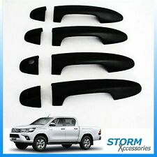 STX DOOR HANDLE COVERS / GUARDS IN BLACK - 4PC SET FOR TOYOTA HILUX MK8 2016 ON