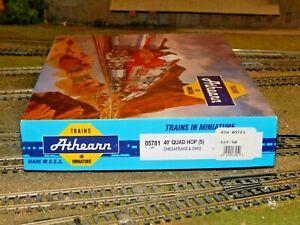 Athearn HO #5781 Chesapeake & Ohio 40' Quad Hopper 5-pack Assembled Kits Used