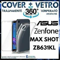 CUSTODIA COVER + PELLICOLA VETRO TEMPERATO ASUS ZENFONE MAX PRO M2 ZB631KL