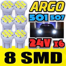 6x Blanco 24v sin tapa HELLA Foco 505 W3W 8 SMD T10 Mazo Bombillas Hgv Camión