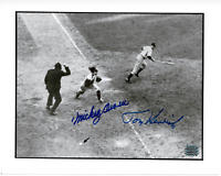 Mickey Owen & Tommy Henrich signed autographed 8x10 photo! RARE! AMCo! 9704