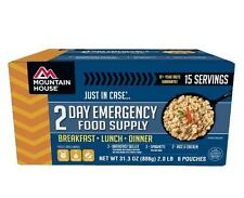 2 Day Emergency Food Suppply- Mountain House Freeze Dried Food Pouch-15 Servings