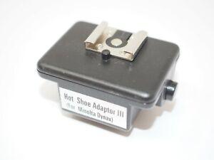 Hot Shoe Adaptor III for Minolta Dynax Cameras