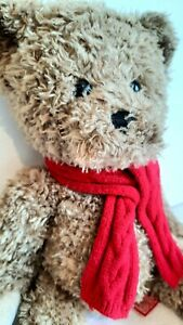 Hamleys Teddy Bear With Red Scarf, 10 1/2 Inches seated