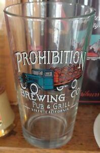 Prohibition Brewing Co Pub & Grill Vista California Pint Glass