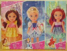 Disney Mini Muñecas del niño 3 Pack-Cinderella, Belle & Ariel