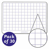 30 X A4 School Whiteboards Square Primary Teaching Children Kids Pupils Dry Wipe