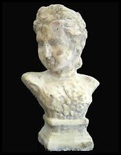 style ancien petit buste sur socle en pierre terre cuite statue sculpture 25cm