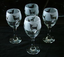 More details for chihuahua dog wine glasses classic set of four boxed