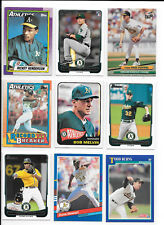 Rickey Henderson plus 8 more A's baseball cards