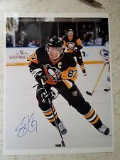 Signed Sidney Crosby  Color 8X10 RP Photo GUARANTEE ORIGINAL RP AUTO w/coa
