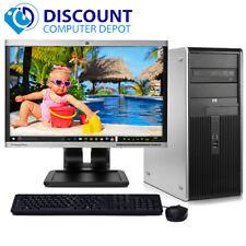"Hp Dc Desktop Computer Pc Tower Intel Dual Core 4Gb 160Gb Dvd WiFi 17"" Lcd"