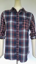 NEW NWT Abercrombie & Fitch Mixed Plaid Shirt  women's size XS