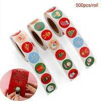 500Pcs/Roll Paper Sticker Merry Christmas Seal Sticker DIY Gift Label Xmas Decor