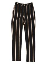 Tapered Leg Striped Trousers UK 8 Topshop Tall Black Nude Stripes Slimming New