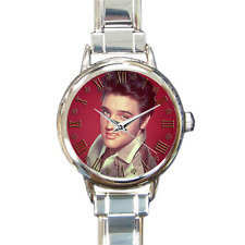 Elvis Presley Watch Rock N Roll Italian Charm Montre Bracelet grandes dames cadeau!