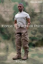 "1/6 Male Army Tactical Pants Khaki Casual Trousers F 12"" Strong Action Figures"
