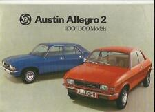 BRITISH LEYLAND AUSTIN ALLEGRO 2 1100 AND 1300 SALES BROCHURE DEC. 1975 FOR 1976