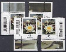BRD/Bund alle 4 Eckrandstücke 3303 Seerose mit EAN Code postfrisch (P-1331)