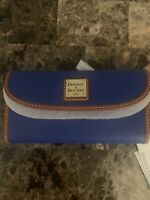 Dooney & Bourke Pebble Grain Continental Wallet French Blue NWT