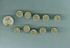 Lot Of 10 Vintage Wr&Eco Hat Button Conductor Pin