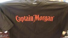 Captain Morgan Rum Whisky Vodka Liquors Alcohol Black SIZE LARGE 100% COTTON