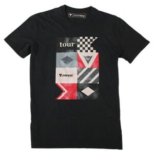 Dainese Motorcycle T-Shirt Tour Casual Clothing Black SIZE S