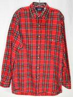Woolrich Men's Red Plaid Long Sleeve Button Up Shirt Size L
