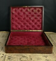 Antique French amboyna jewellery box, 19th century