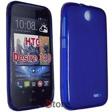 Cover Custodia Per HTC Desire 310 BLU Retro Opaco GEL TPU silicone