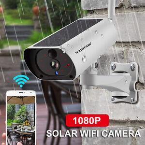 Wanscam 1080P 2MP Solar Powered WiFi IP Camera 4X Zoom 2-Way Audio PIR Alarm USB