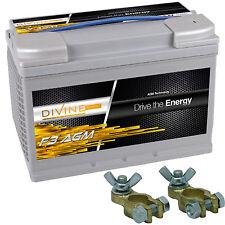 Divine Energy F3 70Ah AGM + Batterieklemmen mit Schmetterlingsschraube