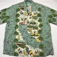 REYN SPOONER California Wine Rayon Shirt Men's Size XL Hawaiian Traditionals EUC