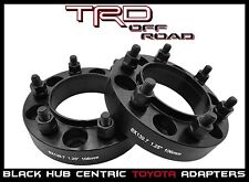 "2 Pc Toyota 6x5.5 6x139.7 HubCentric Wheel Spacers 1.25"" Black 6 Lug Truck SUV's"