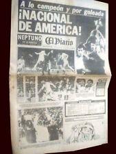 NACIONAL 3 CHAMPION vs NEWELL´S 0  Libertadores Cup 1988 - El Diario newspaper