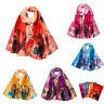 Fashion Women Leaves Printing Long Chiffon Soft Wrap Scarf Ladies Shawl Scarves