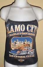 Biker Chick Reconstructed Motorcycle Dealership Shirt Halter Top Texas DiY