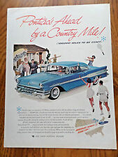 1957 Pontiac Ad Starchief Ahead by a Country Mile  Tennis Theme