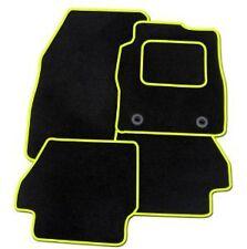 FIAT PANDA 2004-2006 su misura tappetini auto moquette nera con finiture GIALLE