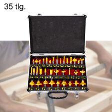 35-tlg Fräsersatz Nutfräser Fräser mit 1/2'' Schaft für Oberfräse Holzfräser NEU