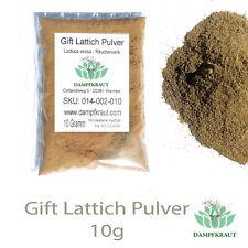 10 Gramm Gift Lattich Pulver (Wild Lettuce) (Lactuca virosa)