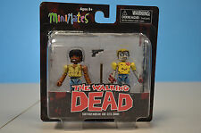 WALKING DEAD MINIMATES Series 5 Survivor Morgan & Geek Zombie