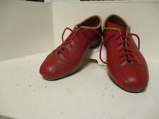 Ladies red leather cycling shoes UK6