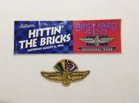 Vintage Aug. 1994 Brickyard 400 Inaugural Race Sticker + IMS Embroidered Patch