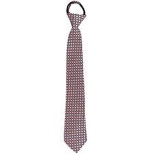 New Kids Boys Zipper Adjustable Pre-tied Necktie Pink Black Plaid checkers forma